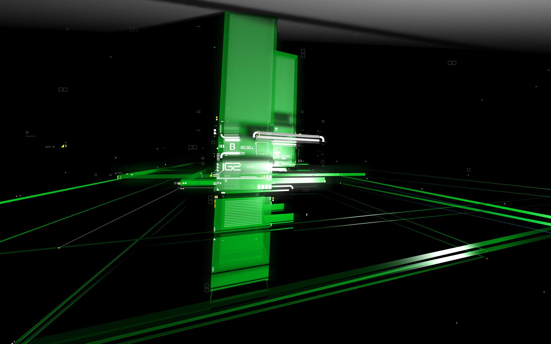 Green In Dark Windows 7 Abstract Wallpapers - Green Windows 10 Background - HD Wallpaper