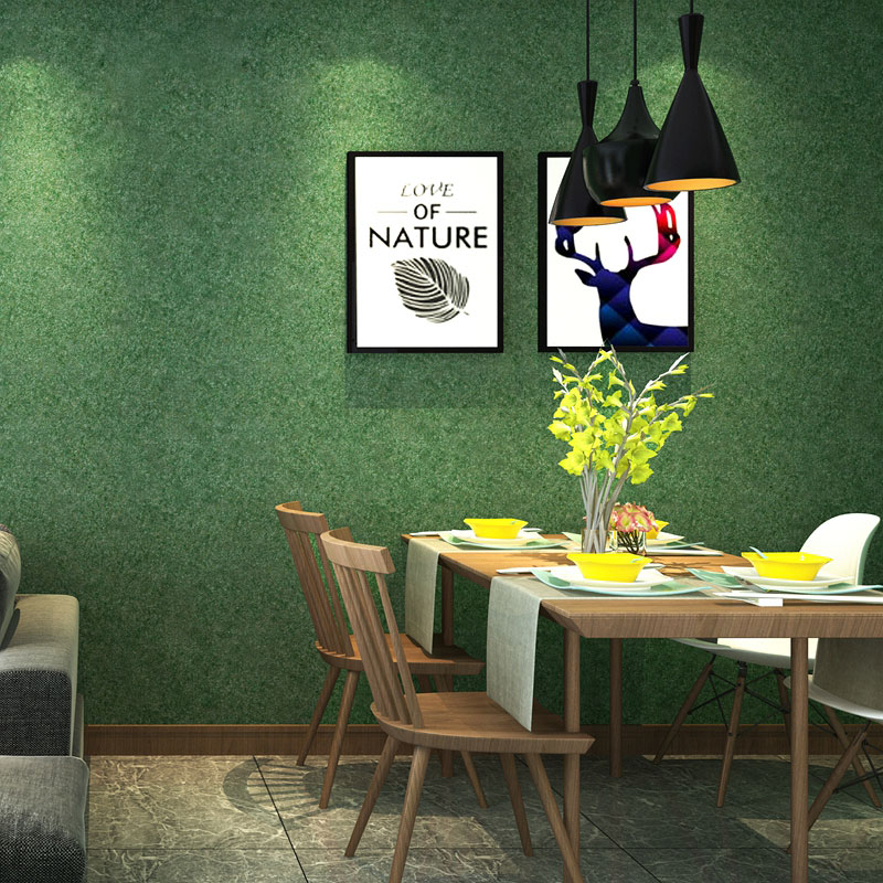 Nordic Modern Ins Solid Color Grass Green Wall Papers - Interior Design - HD Wallpaper