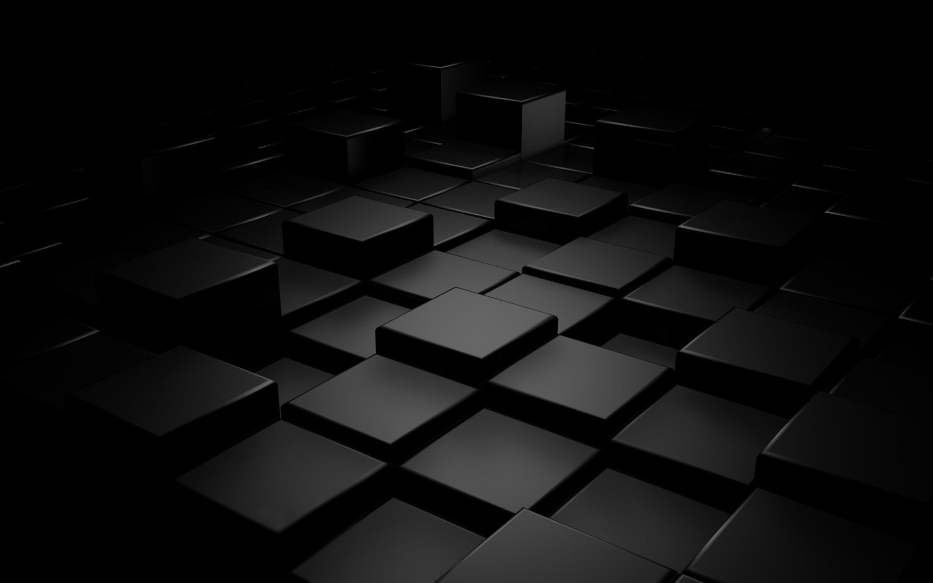 Plain Black 3d 12 Desktop Wallpaper ...