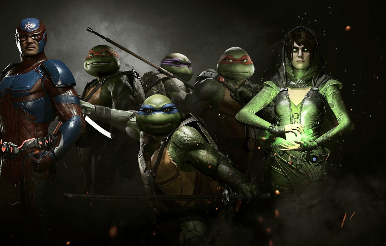 Photo Wallpaper Game, Tmnt, Hero, Atom, Dc Comics, - Injustice 2 Neo - HD Wallpaper