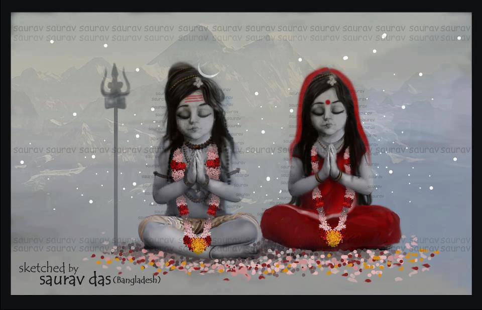 God Shiva And Lord Krishna - HD Wallpaper