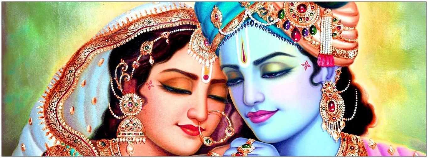 Wallpaper Shri Modern Radha Desktop Krishna Full Hd - Radha Krishna Romantic Whatsapp Dp - HD Wallpaper