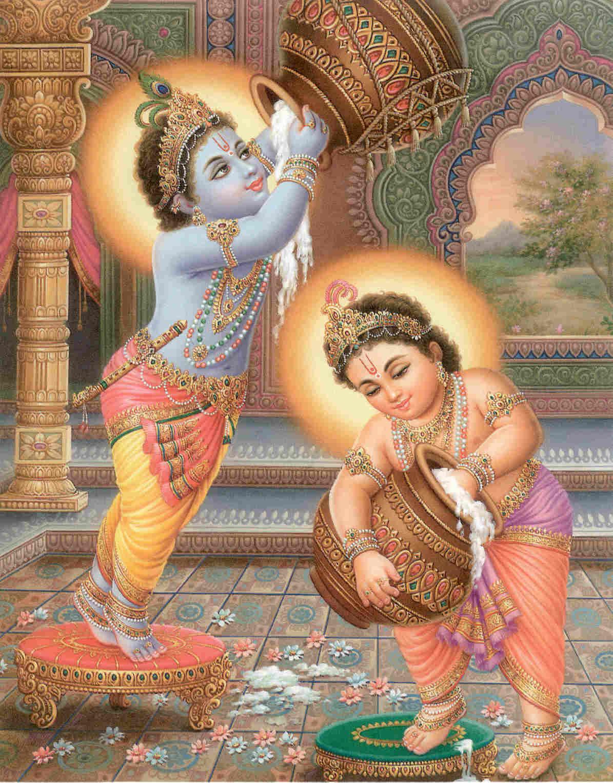 Hail Lord Krishna - HD Wallpaper