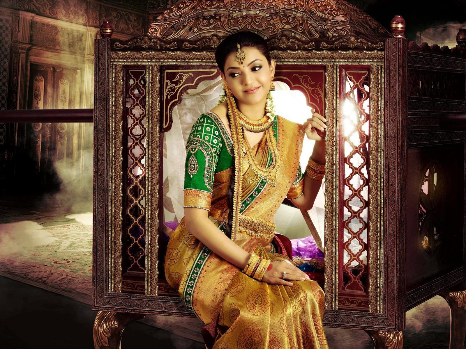 Kajal Agarwal Silk Saree - Pattu Latest Wedding Sarees Collection - HD Wallpaper