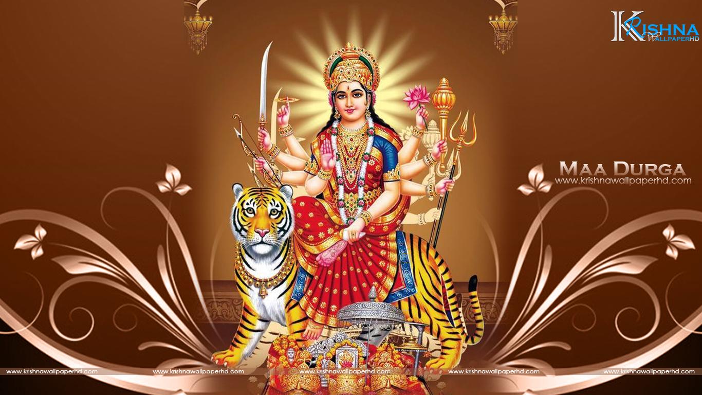 Durga Mata Wallpaper Download 1366x768 Wallpaper Teahub Io