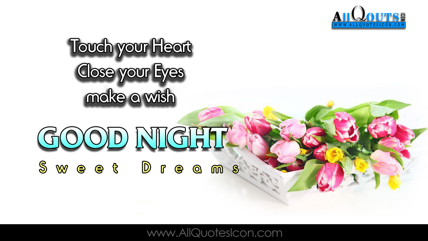 Good Night Wallpapers English Quotes Wishes For Whatsapp - Tulip - HD Wallpaper