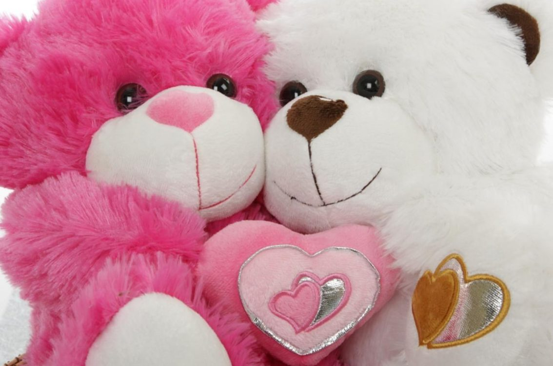 Pink And White Teddy Image - Cute Images For Dp Whatsapp Download - HD Wallpaper