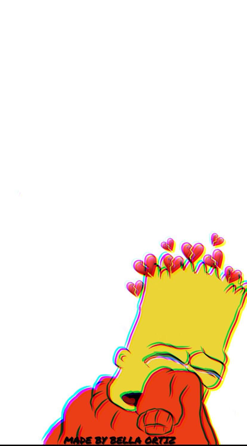 I Drew And Edited Thisss Bart Simoson Iphone Wallpaper - Broken Heart Wallpaper Iphone - HD Wallpaper