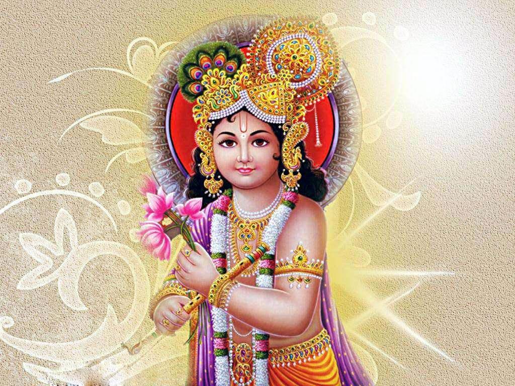 Lord Krishna Awesome Wallpaper In 3d - Happy Krishna Janmashtami Hd - HD Wallpaper