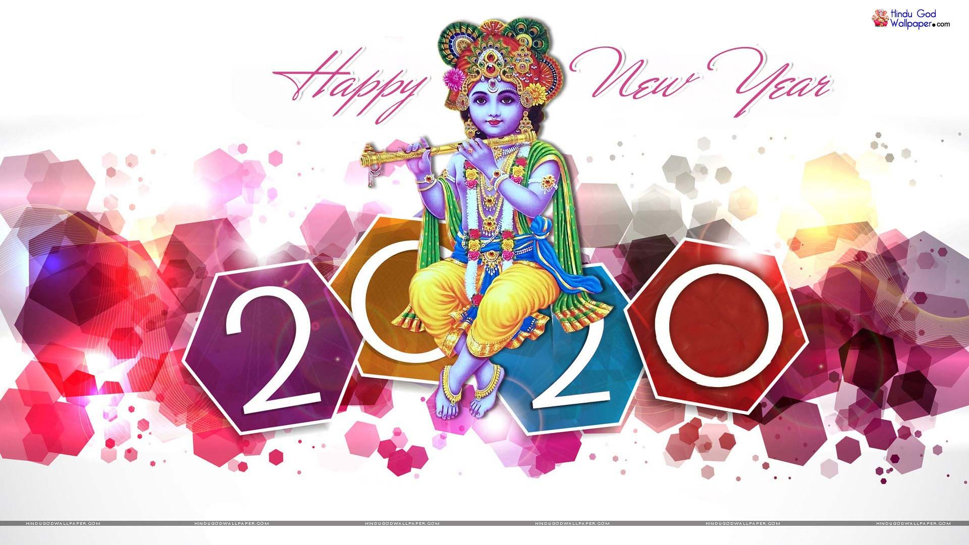 New Year With Indian God - HD Wallpaper