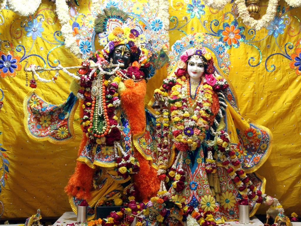 Iskcon Krishna Radha Wallpapers For Desktop - Radha Krishna Hd Wallpaper Iskon - HD Wallpaper