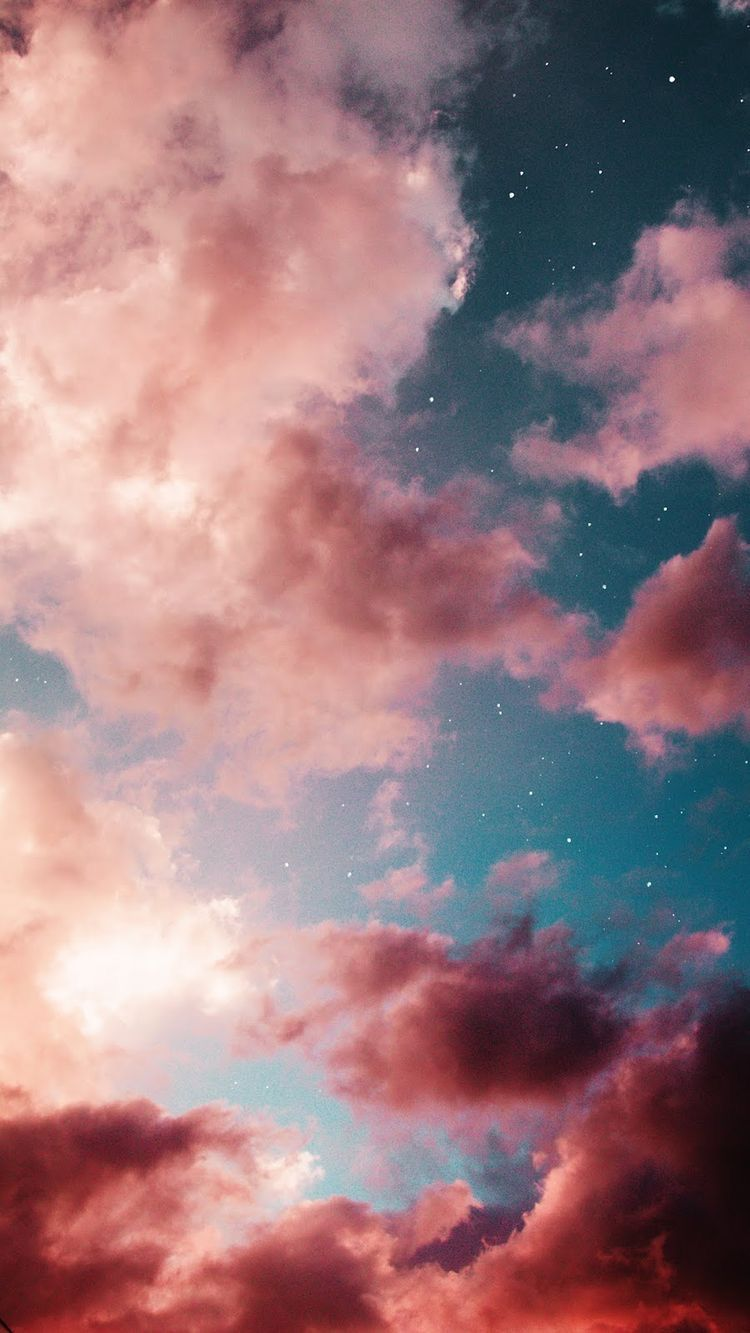 249 2499684 aesthetic blue sky pink clouds