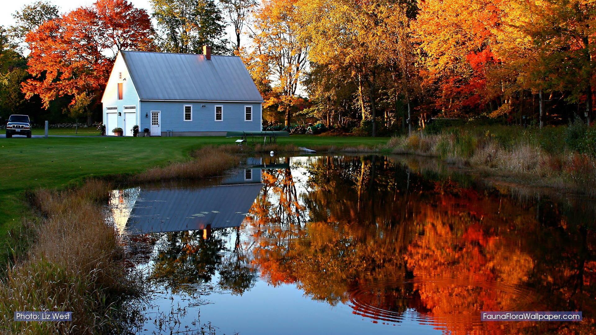 New England Fall Desktop Wallpaper, 43 England Fall - Autumn New England Desktop - HD Wallpaper