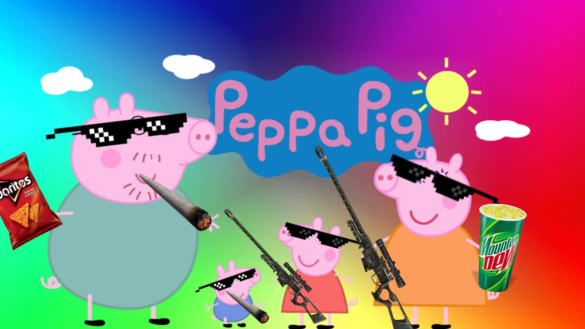 1920x1080 Peppa Pig Wallpapers The Best 59 Images Mlg Wallpaper Peppa Pig 1920x1080 Wallpaper Teahub Io
