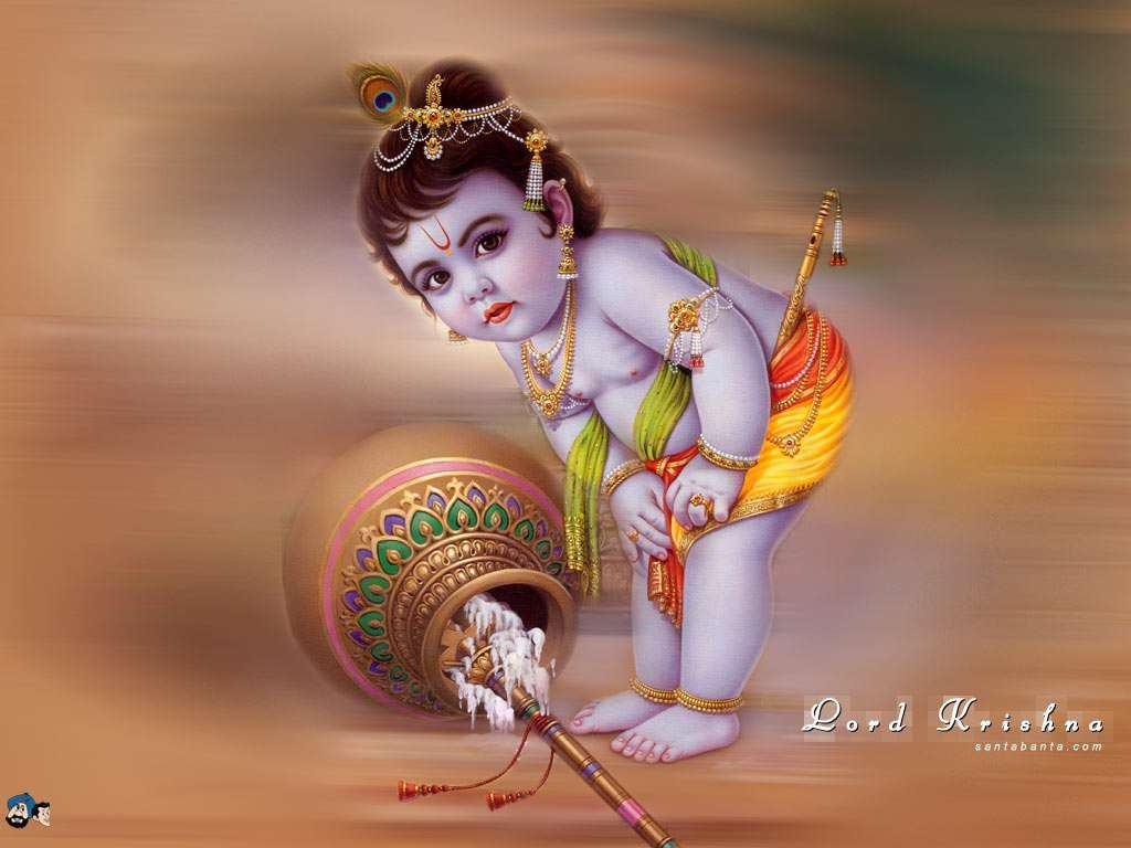 God Hd Wallpapers, Free Wallpaper Downloads, God Hd - Lord Krishna - HD Wallpaper