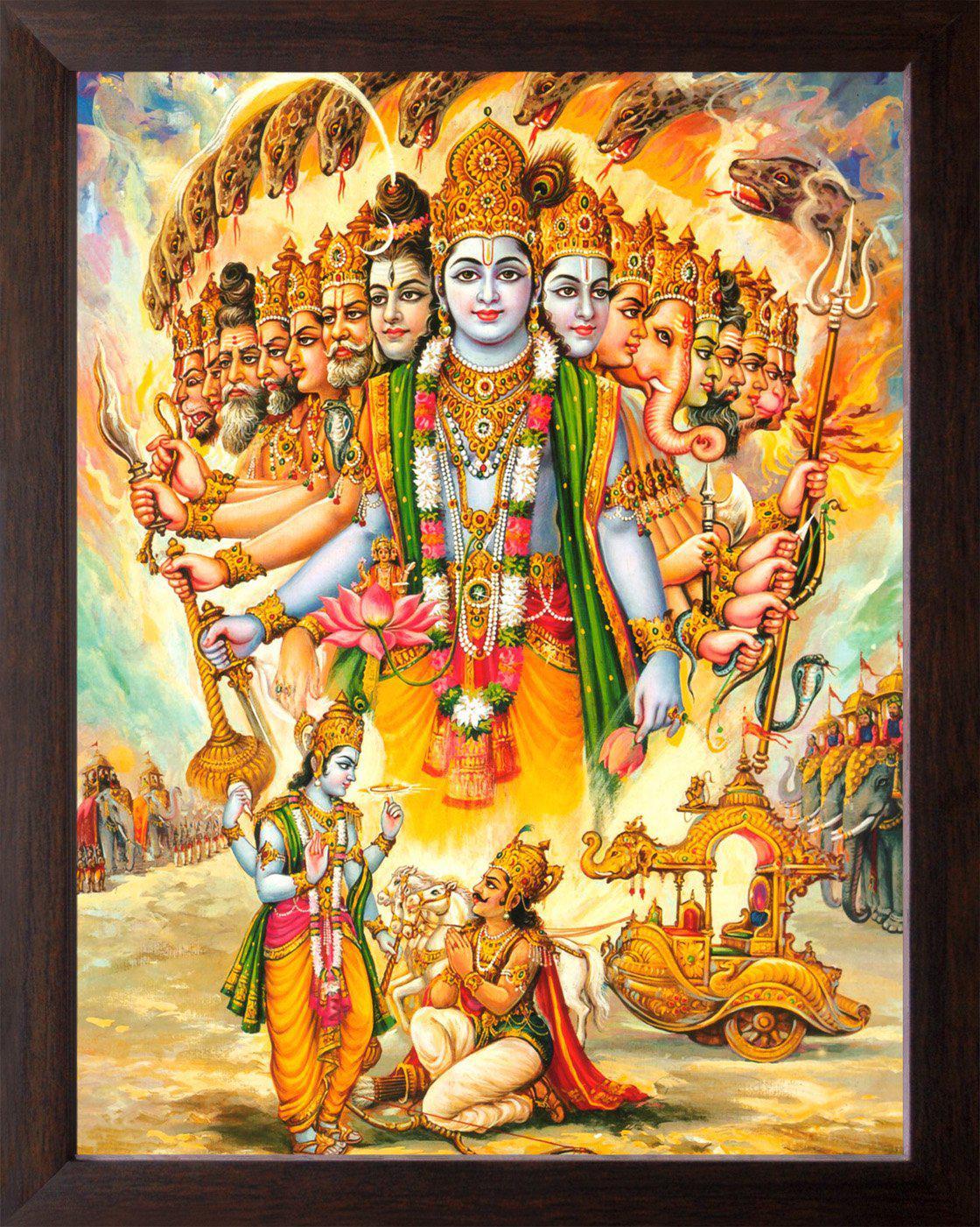 God Hd Wallpapers Free Wallpaper Downloads God Hd Desktop - Lord Krishna Virat Roop - HD Wallpaper