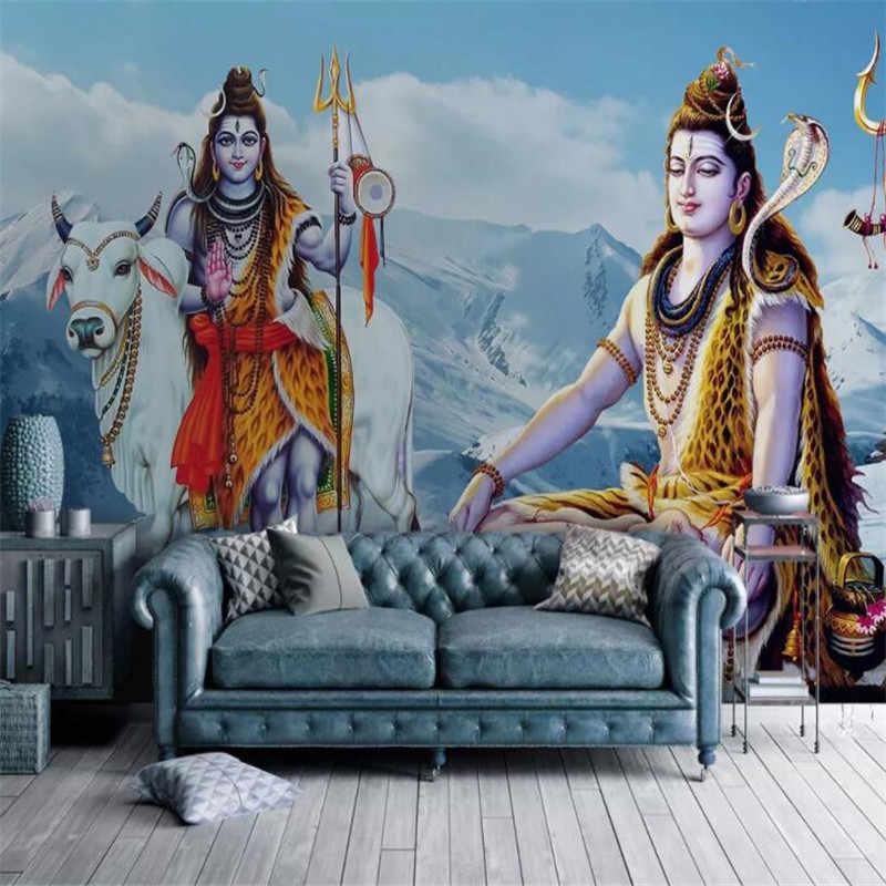 Custom 3d Photo Wallpaper Religious Statues Hindu God - Hd Wallpaper Full Size Lord Shiva - HD Wallpaper