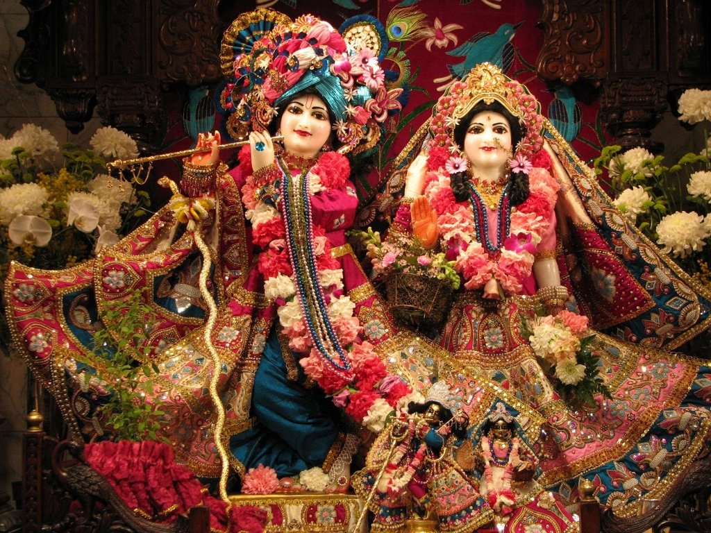 Com/wp Krishna Iskcon Wallpaper 1 - Krishna Ji And Radha Ji - HD Wallpaper