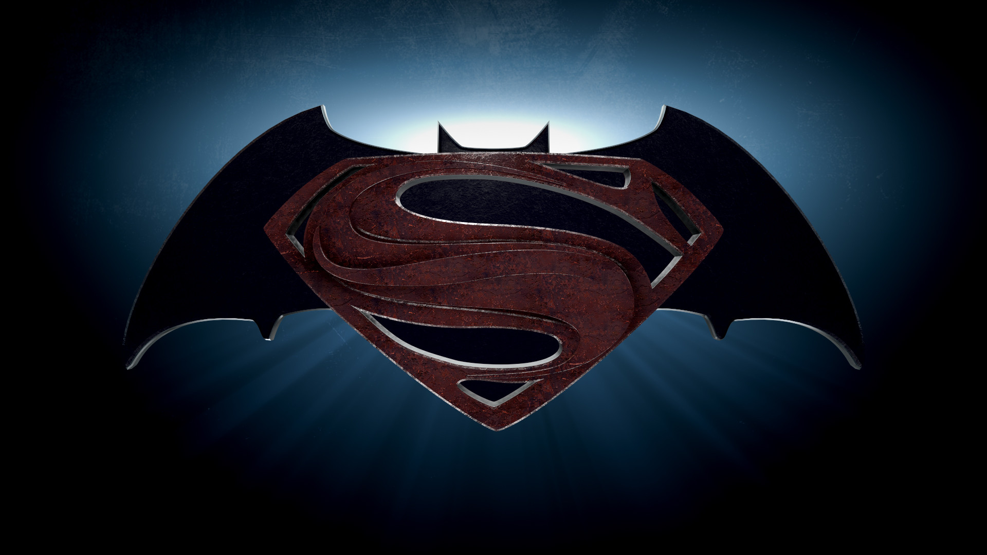 Batman And Superman Wallpaper Background Hd Download - Batman Vs Superman Logo 4k - HD Wallpaper