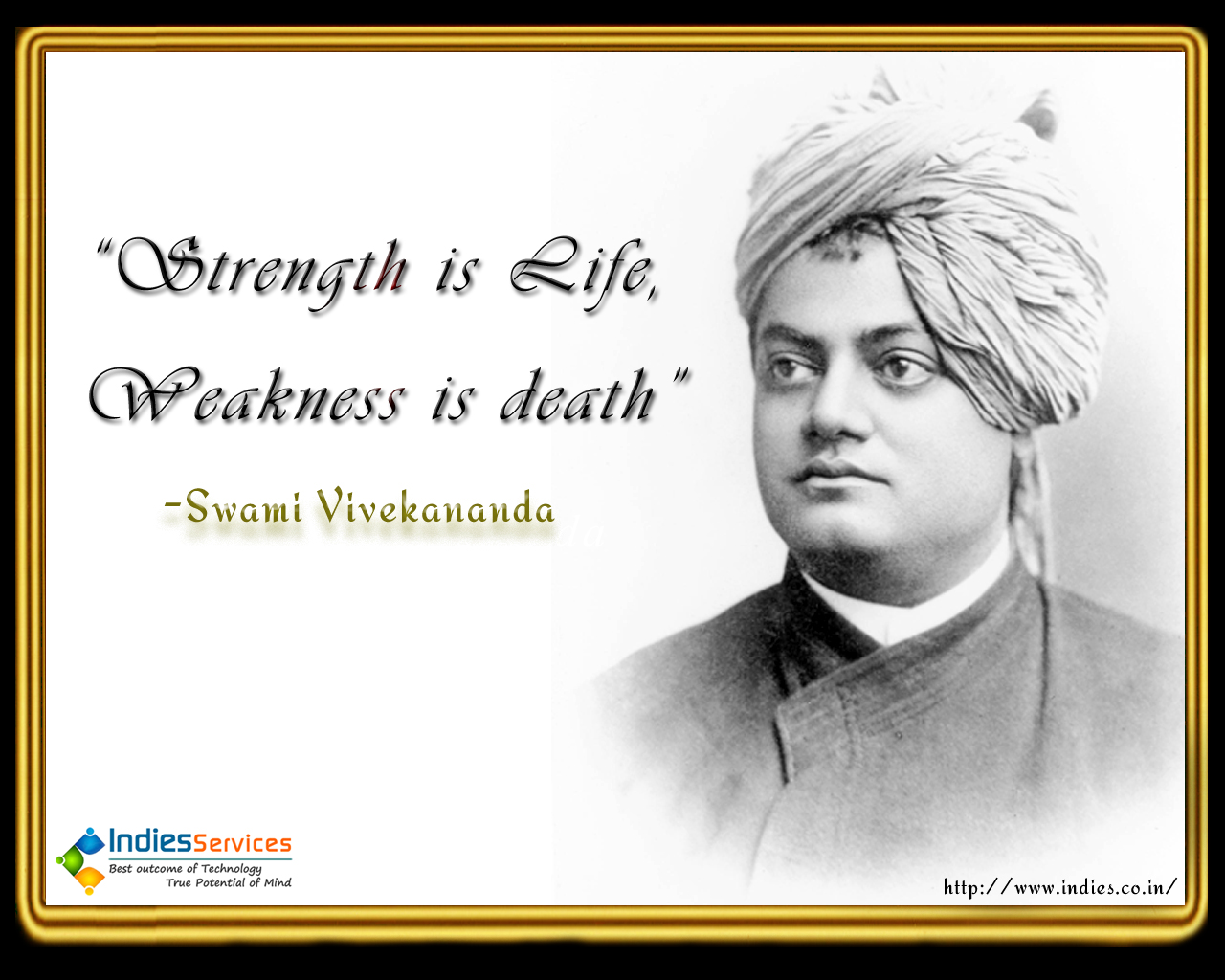 Swami Vivekananda Wallpapers Visit Our Collection Of - Swami Vivekananda Quotes Strength Is Life - HD Wallpaper