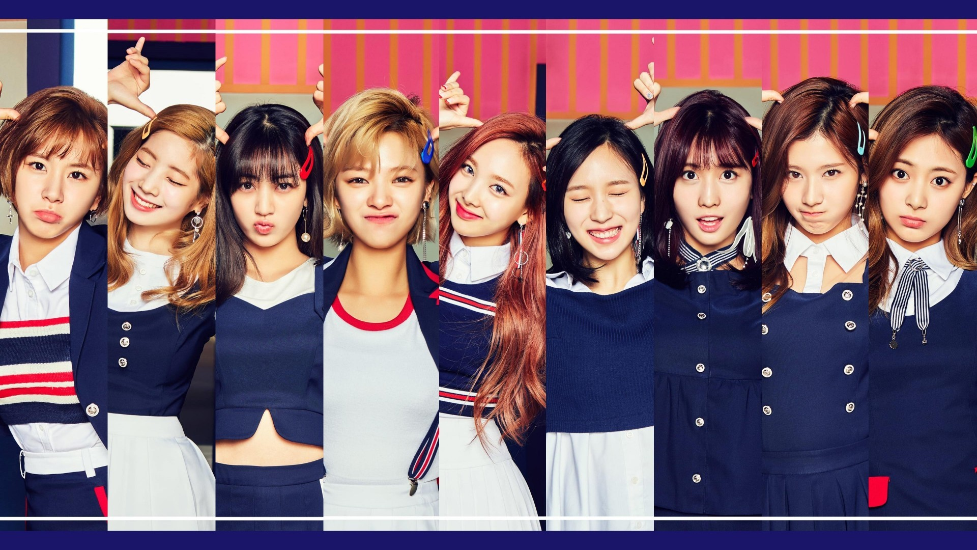 Twice South Korean Girls Kpop Likey Twice Wallpaper For Laptop 1920x1080 Wallpaper Teahub Io