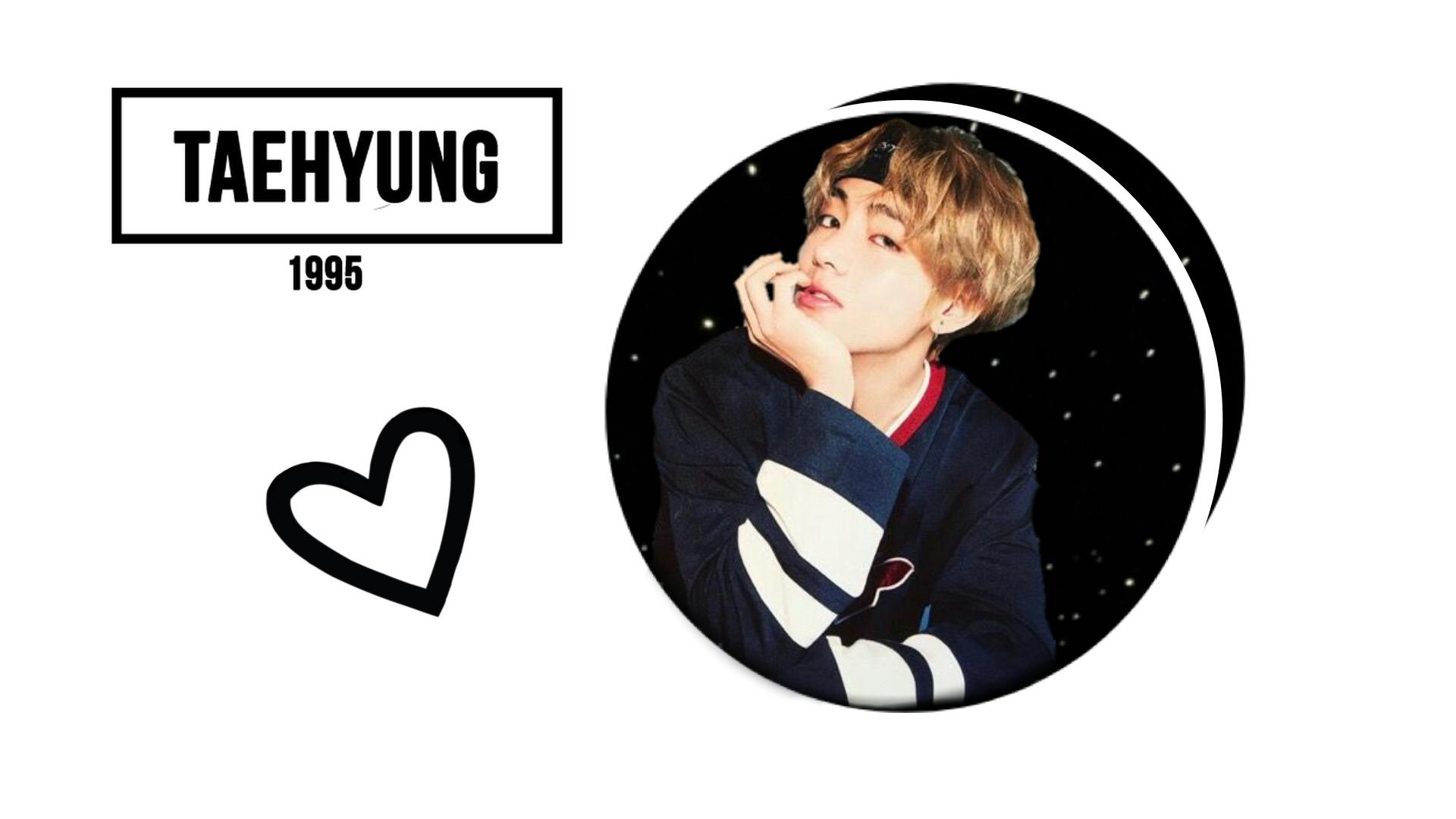 Freetoedit Taehyung Bts V Kpop Desktopwallpaper Bts Kim Taehyung Logo 1920x1080 Wallpaper Teahub Io