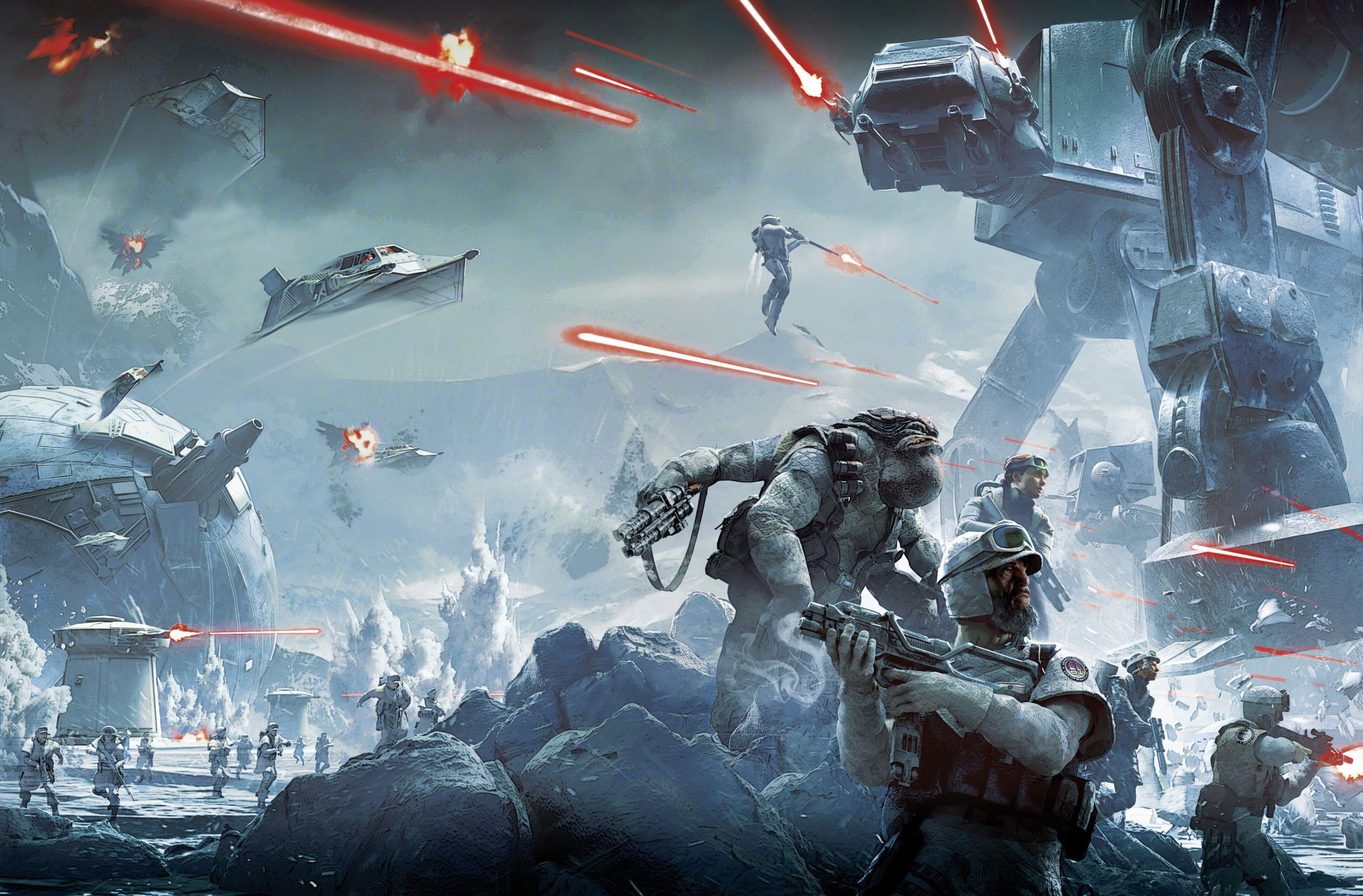 Star Wars The Clone Wars Wallpaper Star Wars Battlefront Art 3840x2525 Wallpaper Teahub Io