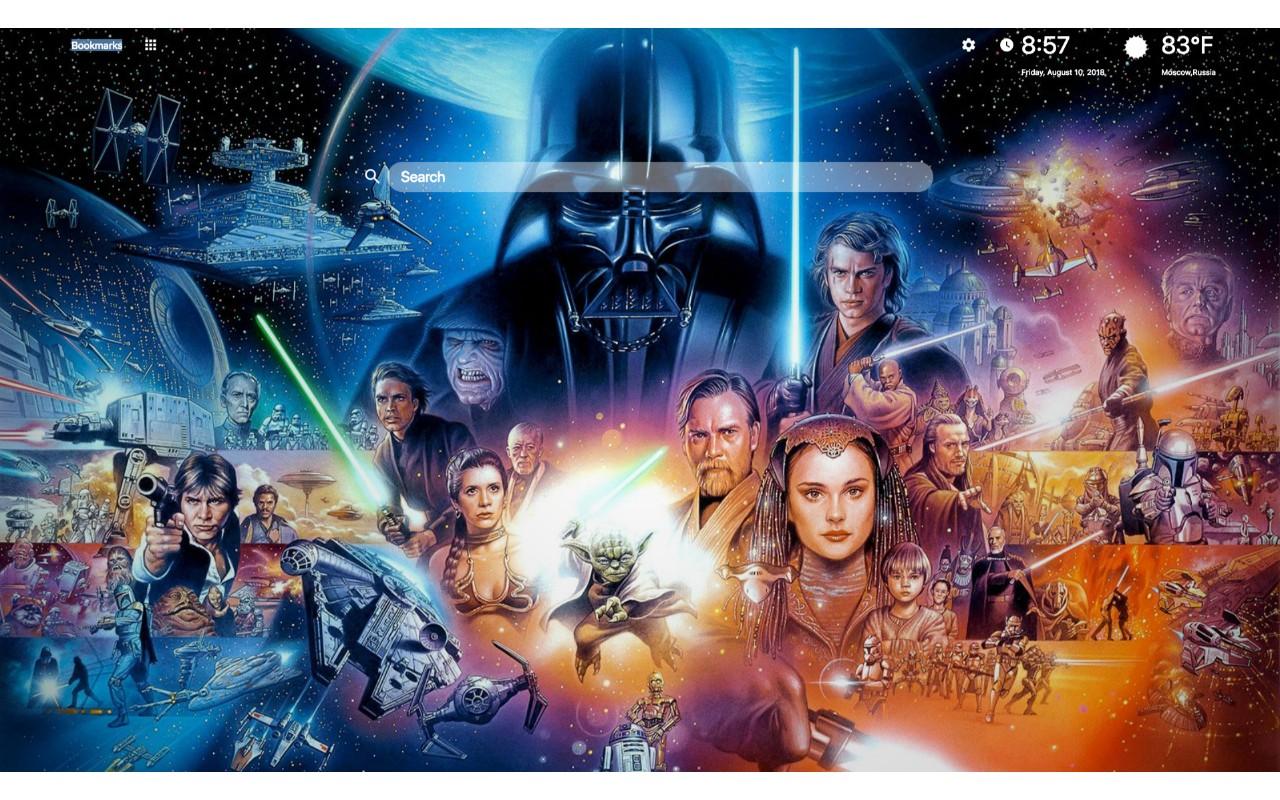 Star Wars Hd Wallpaper Star Wars Hd Wallpapers New Tsuneo Sanda Star Wars Poster 1280x800 Wallpaper Teahub Io