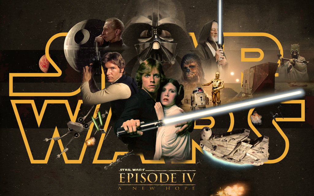 Star Wars Episode Iv A New Hope By 1darthvader D6kcg7l Star Wars Episode 4 1024x640 Wallpaper Teahub Io