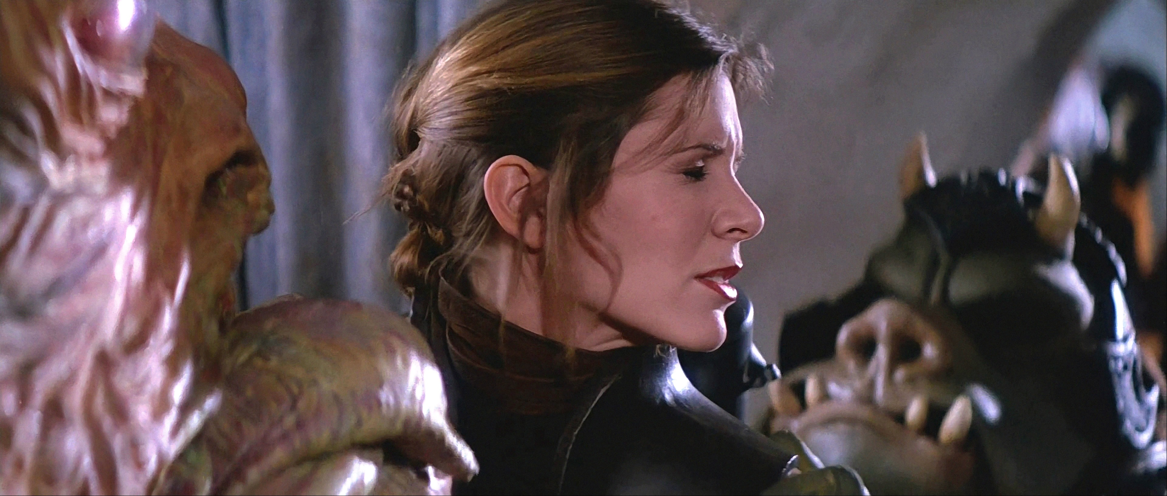 Return Of The Jedi Star Wars Jabba Kisses Leia 3840x1632 Wallpaper Teahub Io