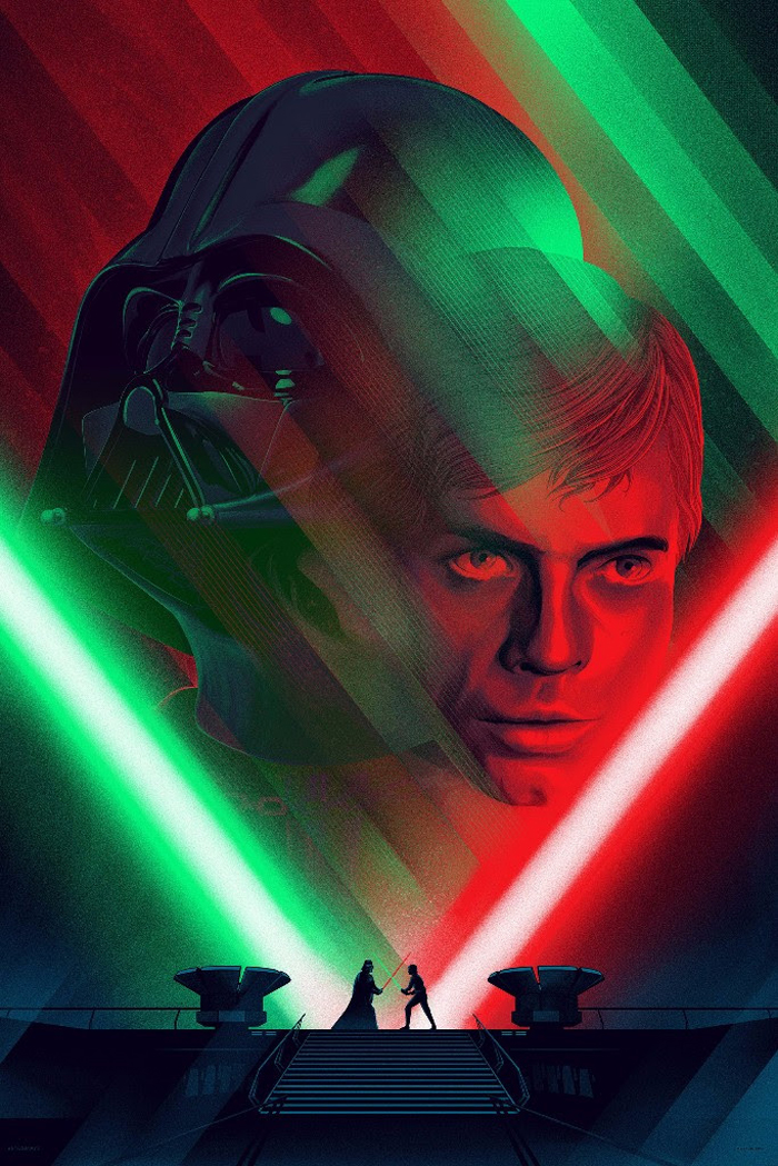 250 2509990 kevin tong star wars prints red and green