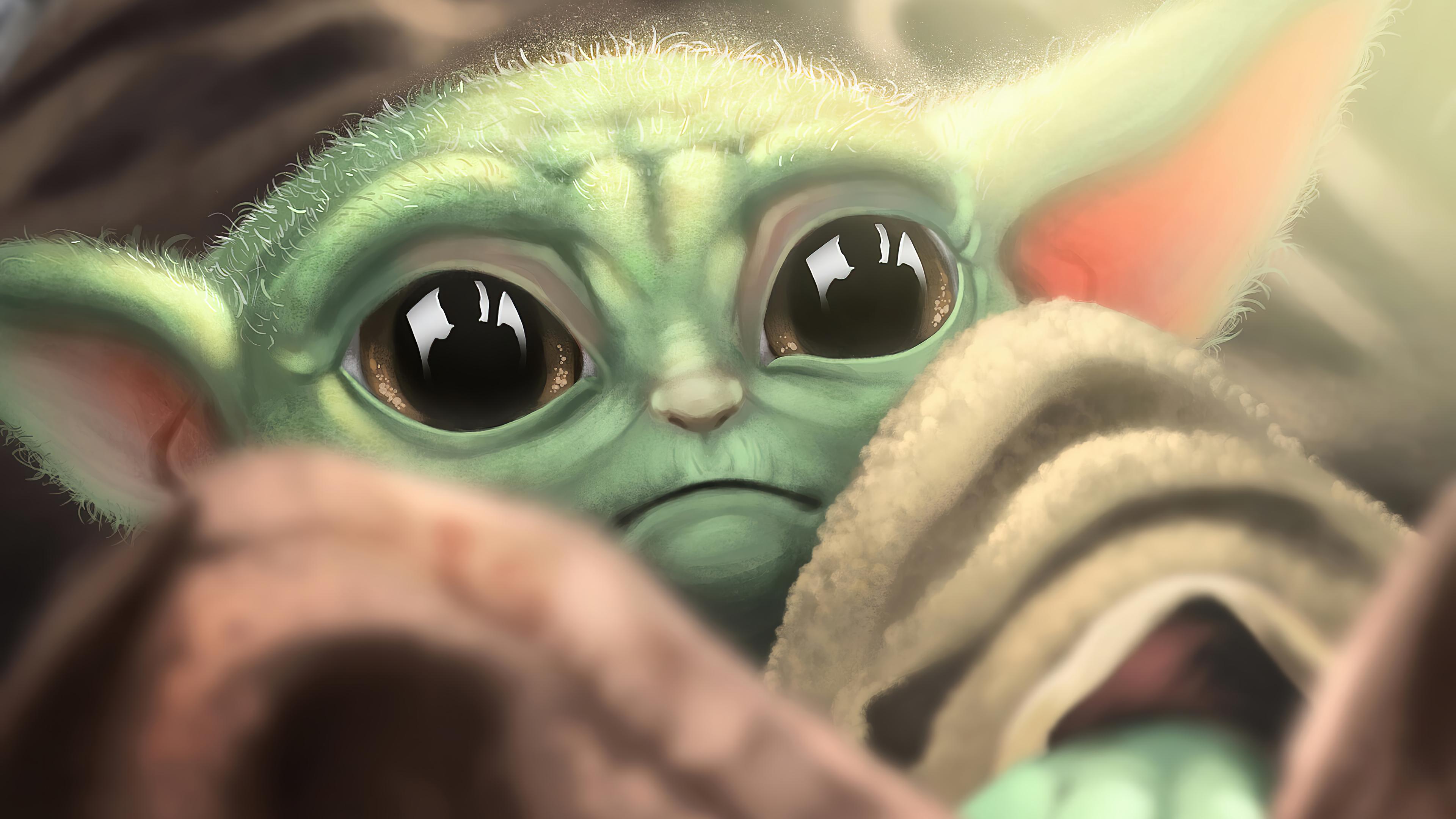 Baby Yoda Full Hd 3840x2160 Wallpaper Teahub Io