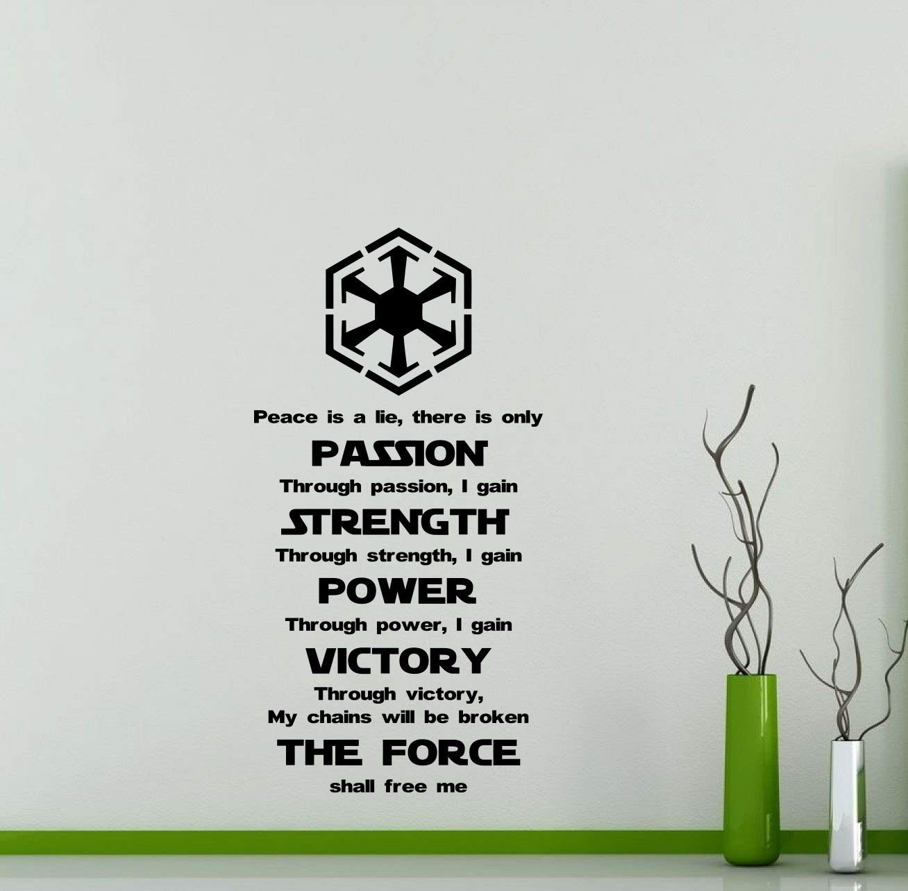 Star Wars Wall Vinyl Decal Sith Code Passion Strength Star Wars Quotes On Losing A Loved One 1308x1284 Wallpaper Teahub Io