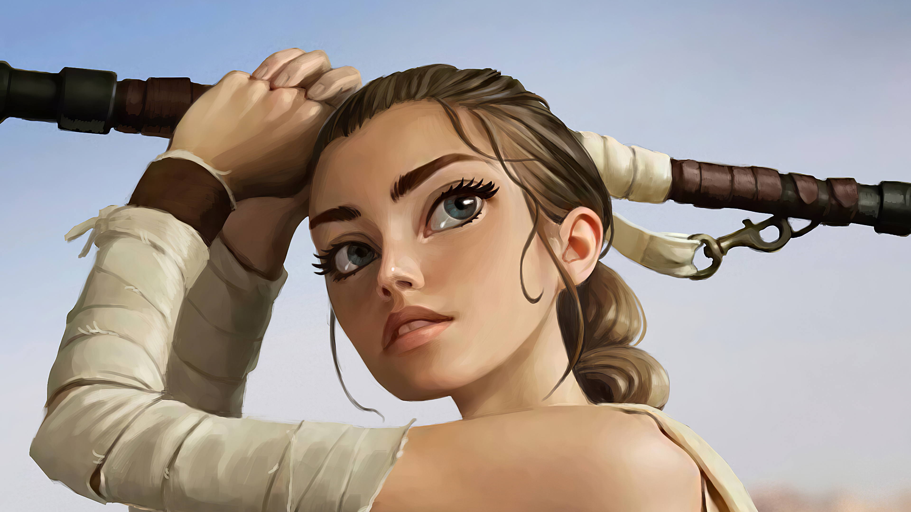 Rey Star Wars Fanart 3840x2160 Wallpaper Teahub Io