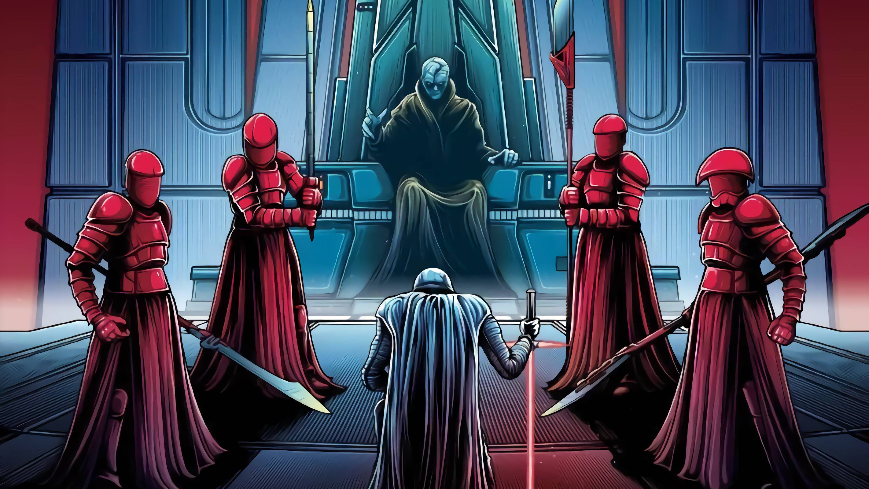 Star Wars The Last Jedi Dan Mumford 3012x1694 Wallpaper Teahub Io