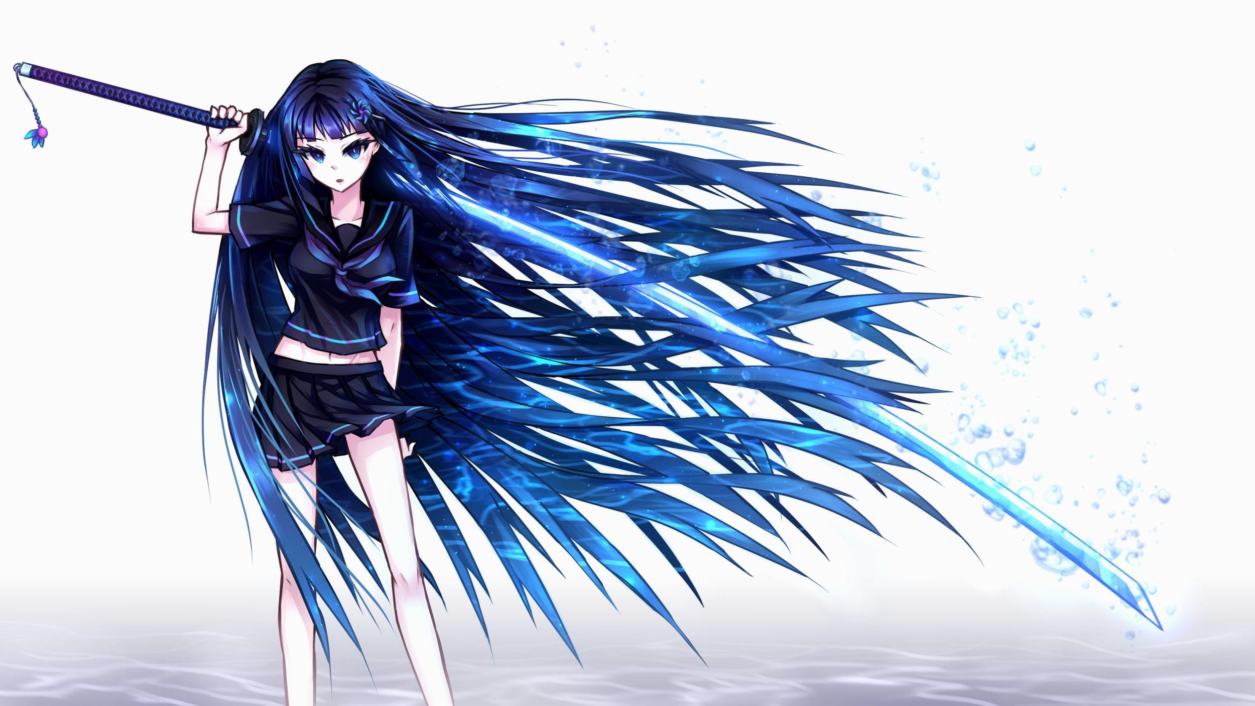 Anime Girl With Sword Wallpaper Hd - Sword Anime Girl Wallpaper Hd - HD Wallpaper