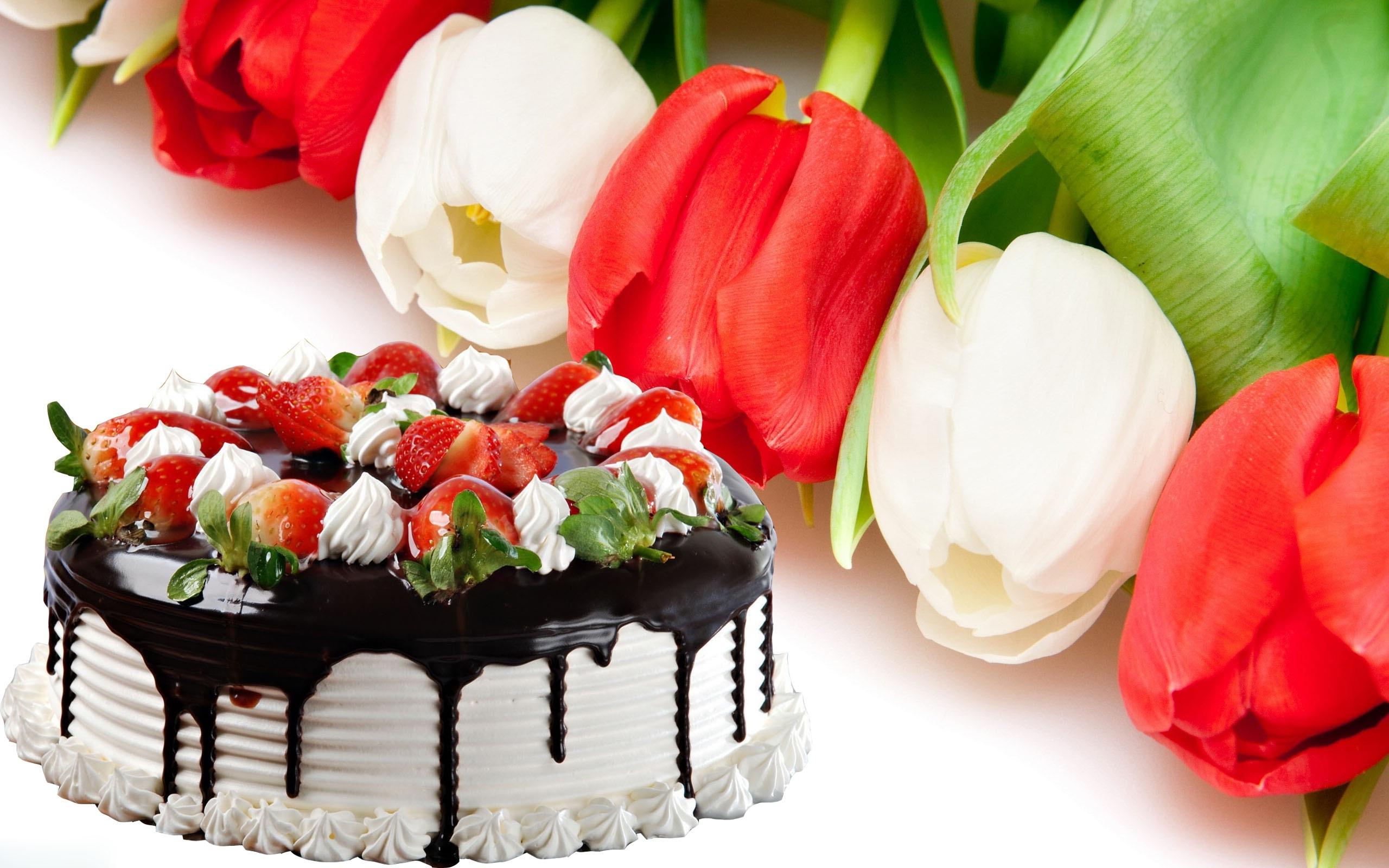Happy Birthday Flowers Free 2560x1600 Wallpaper Teahub Io