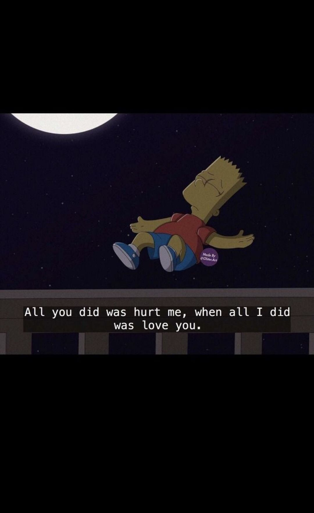 Sad Aesthetic Quote Sad Quote Bart Simpson 1080x1765 Wallpaper Teahub Io