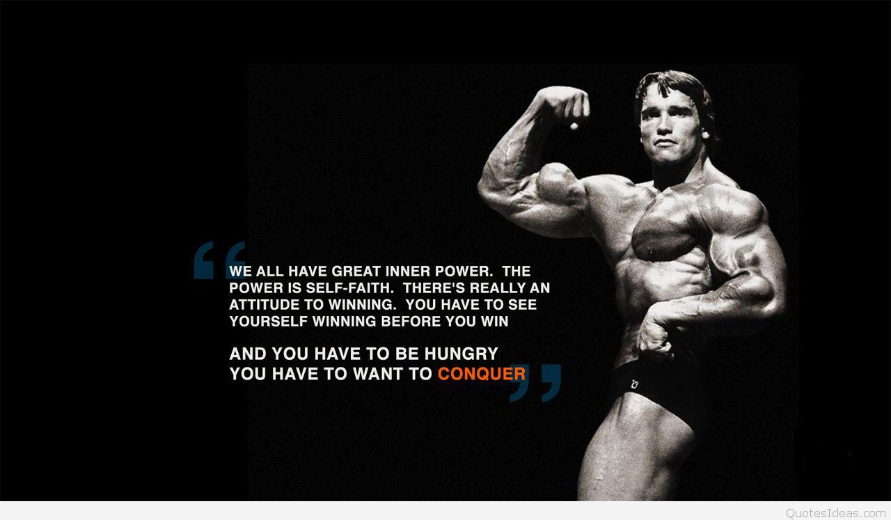 Arnold Swartzenegger Motivational Fitness Quote - Motivational Workout Quotes Men - HD Wallpaper