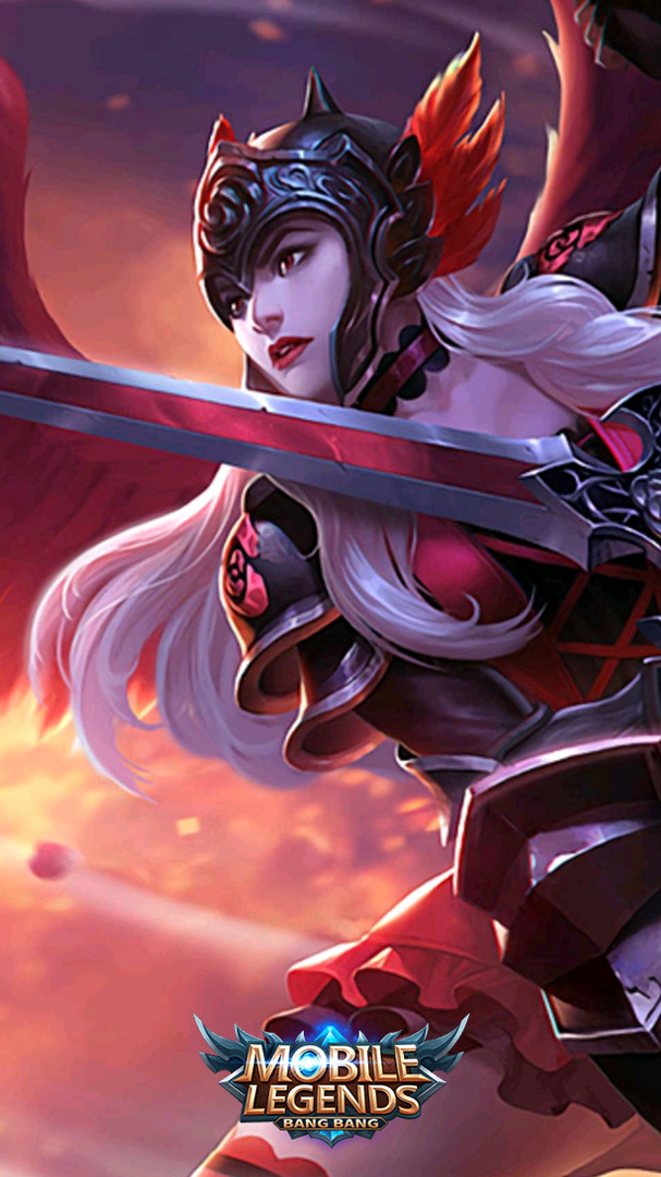 Mobile Legends Freya Dark Rose 607x1080 Wallpaper Teahub Io