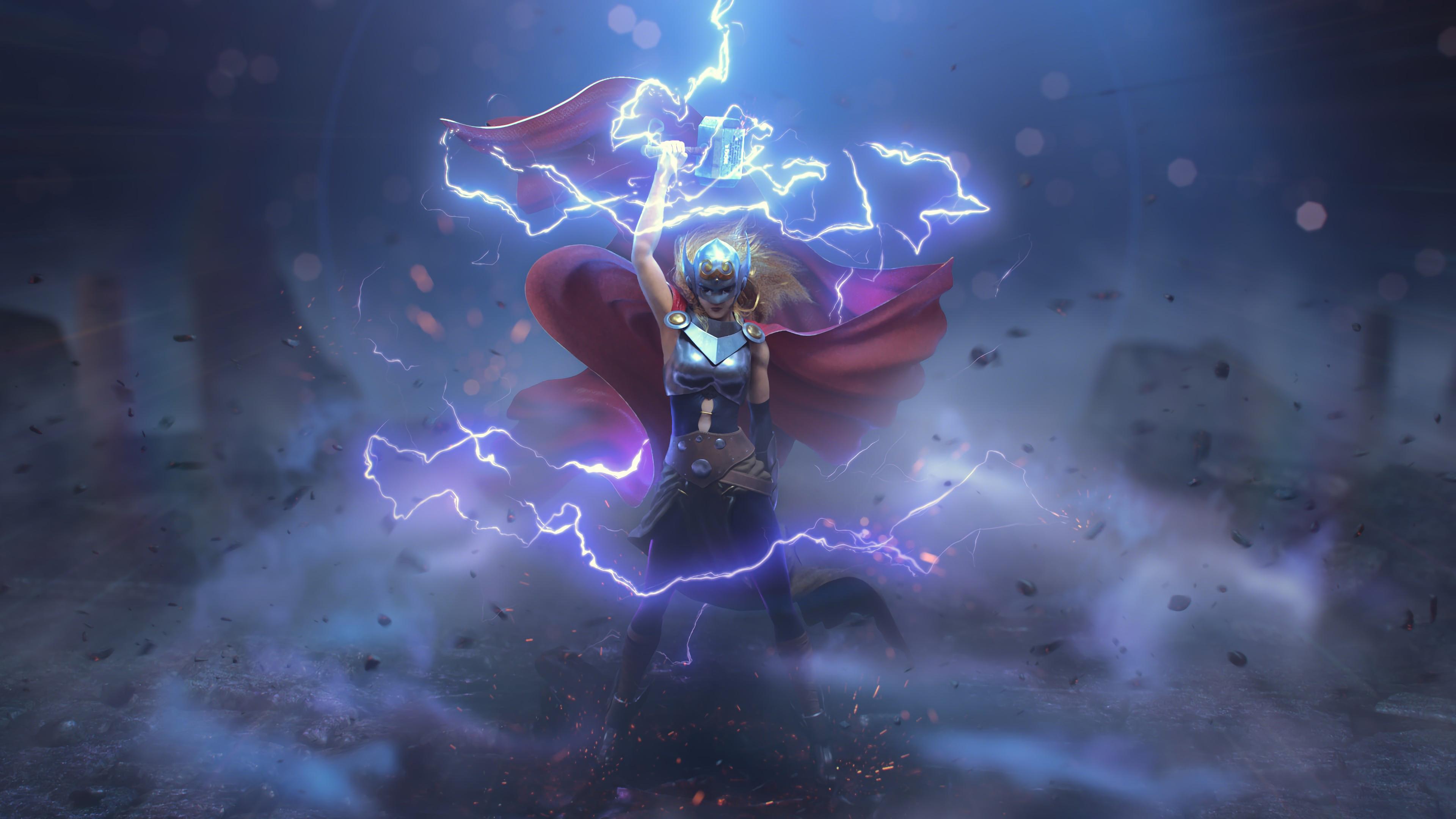 Jane Foster Thor - Thor Art - HD Wallpaper