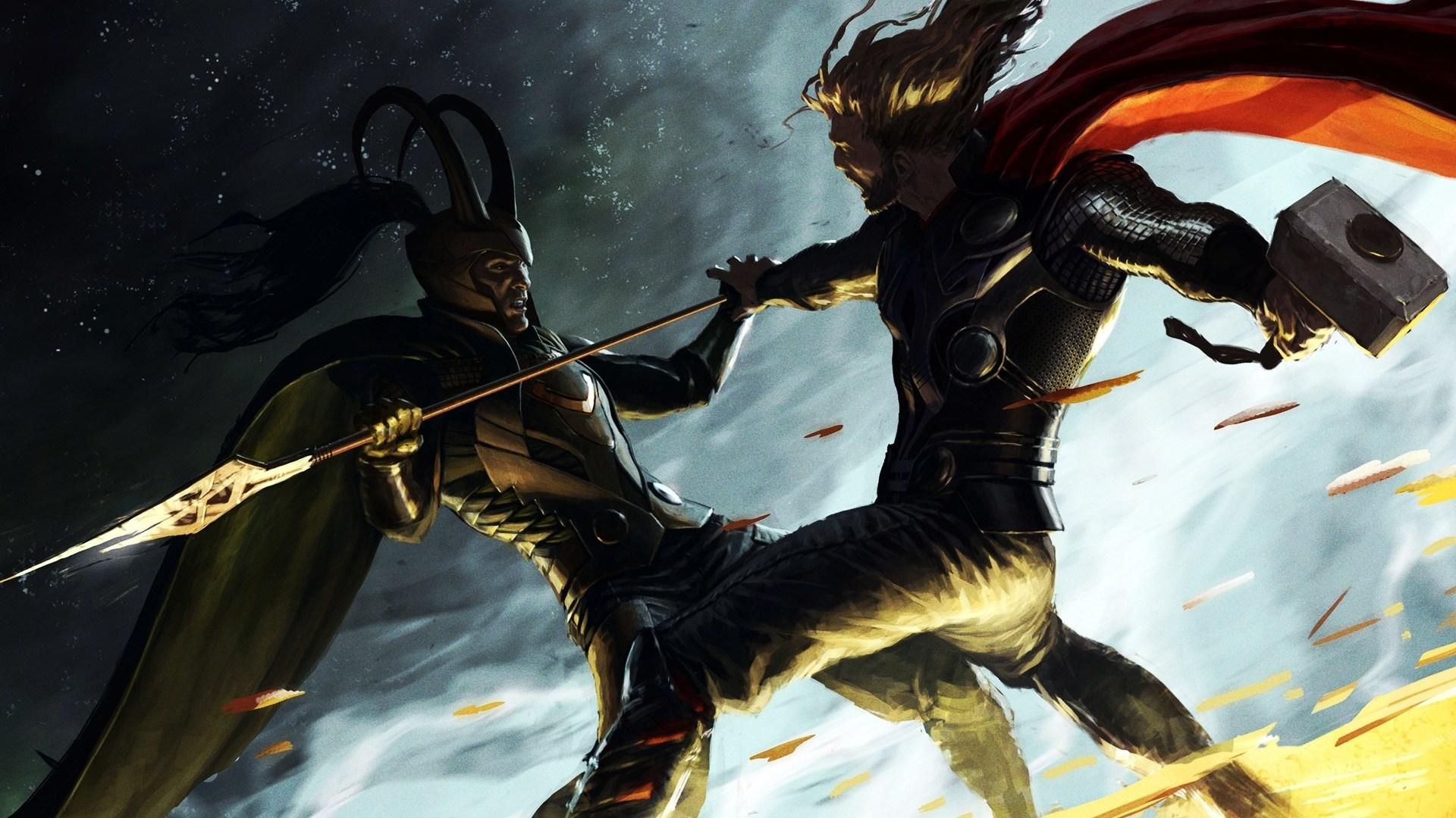 Marvel Loki Thor - HD Wallpaper