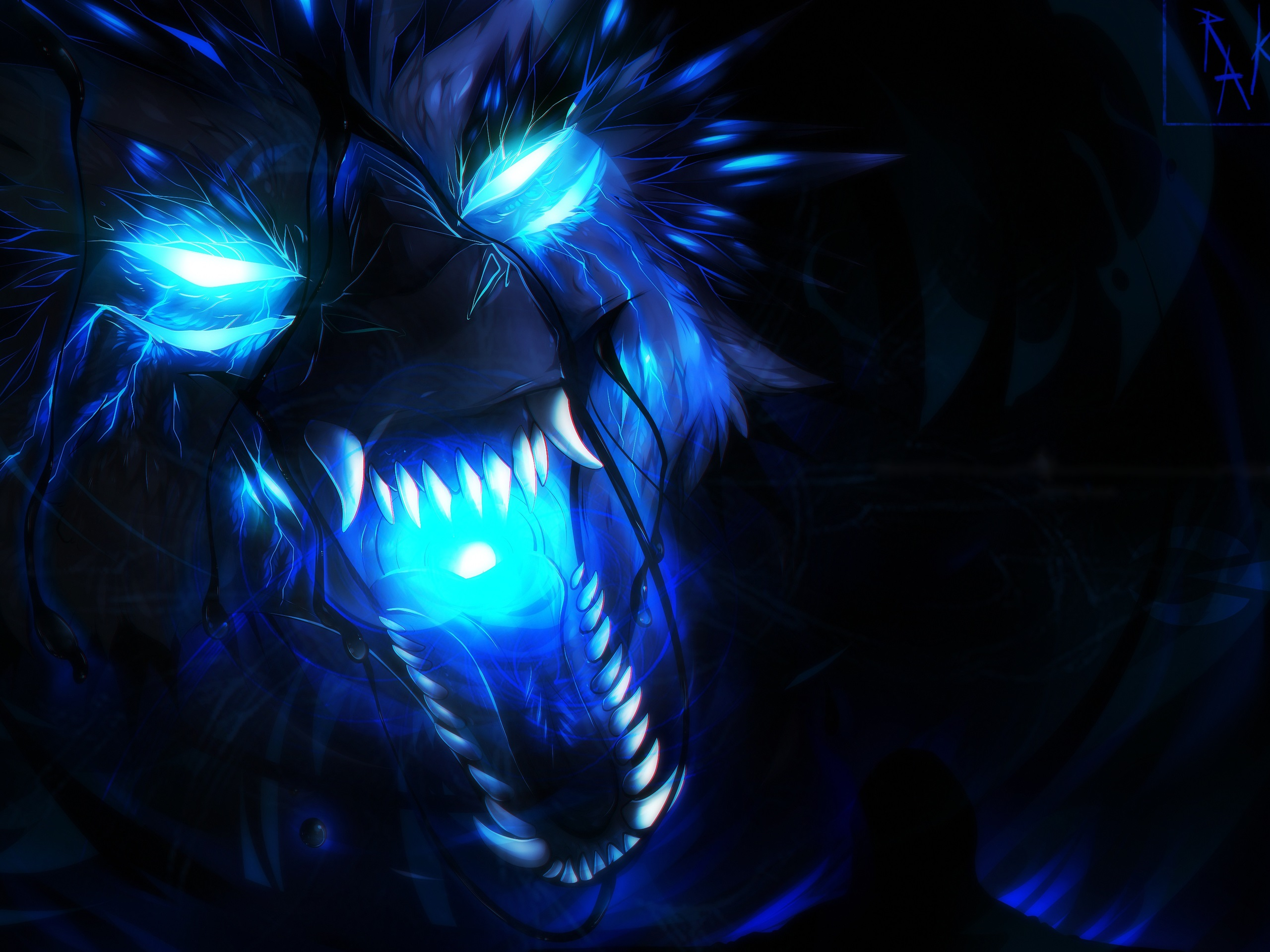 Blue Wolf 2560x1920 Wallpaper Teahub Io