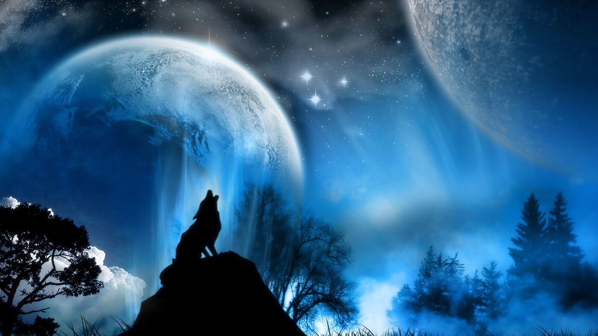 Wolfpack Wallpaper Upstore Wolf Howling At The Moon Background 1920x1080 Wallpaper Teahub Io