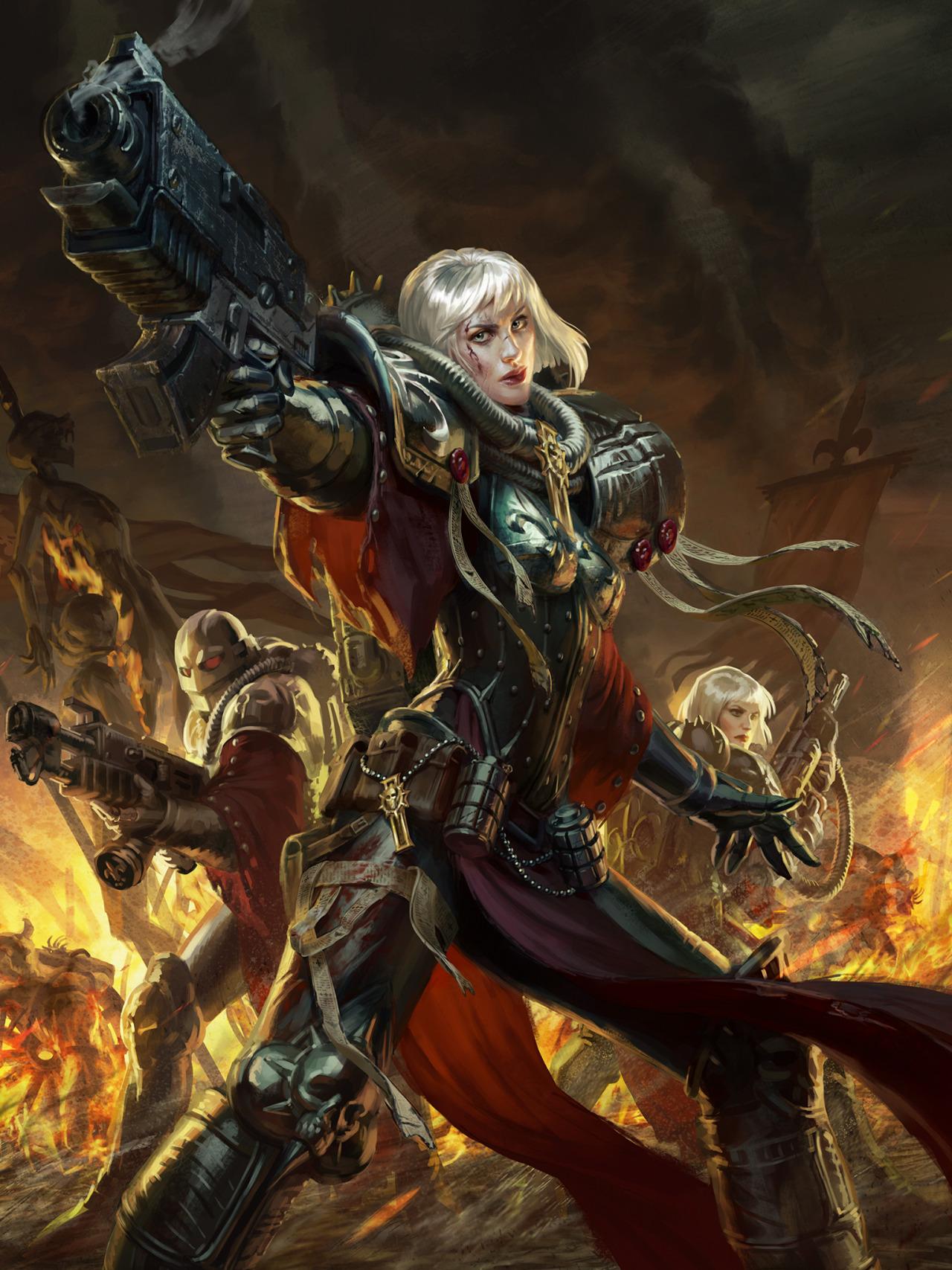 Warhammer 40k Sisters Of Battle 1280x1707 Wallpaper Teahub Io
