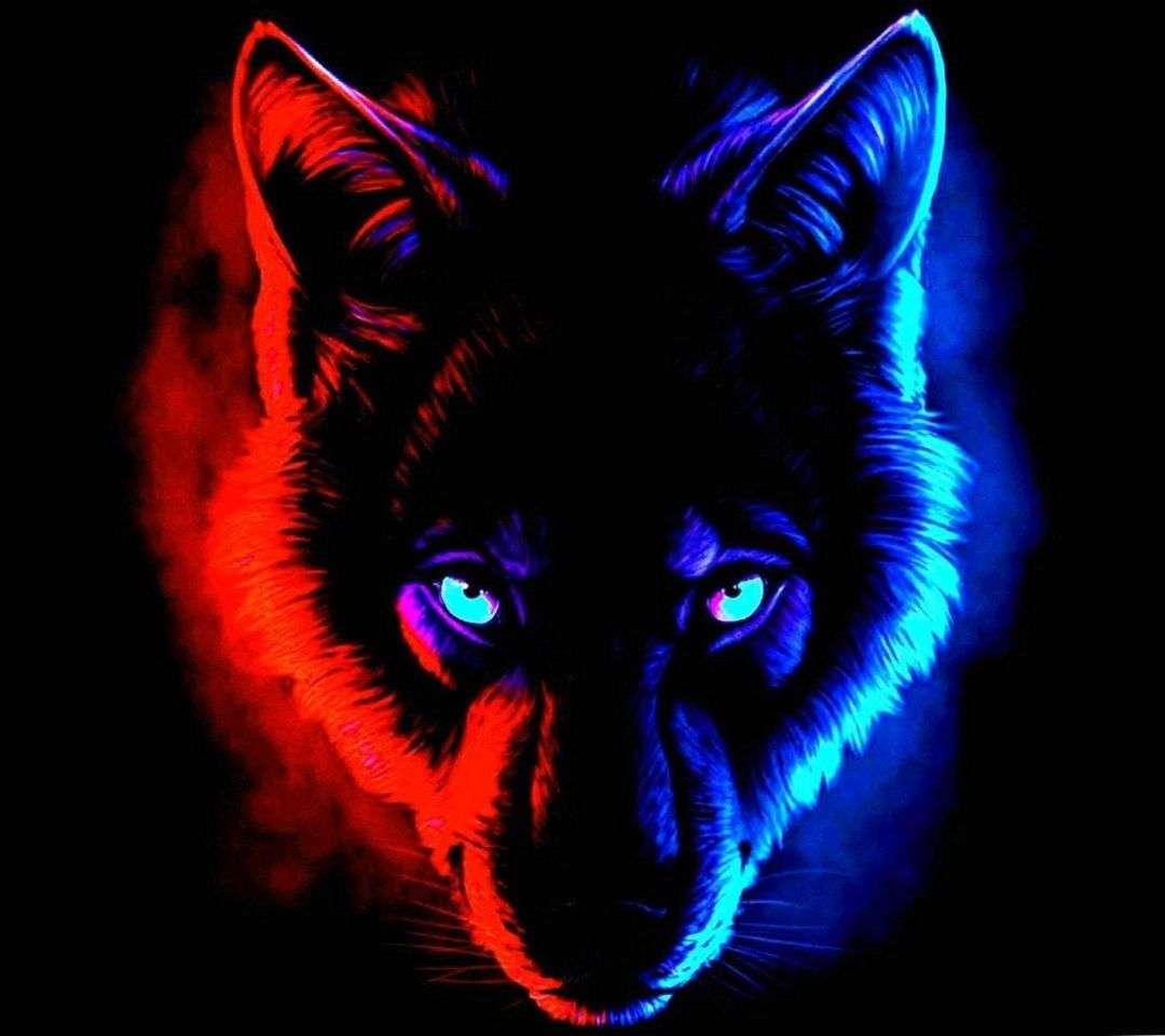 Android, Iphone, Desktop Hd Backgrounds / Wallpapers - Glow In The Dark Wolf - HD Wallpaper