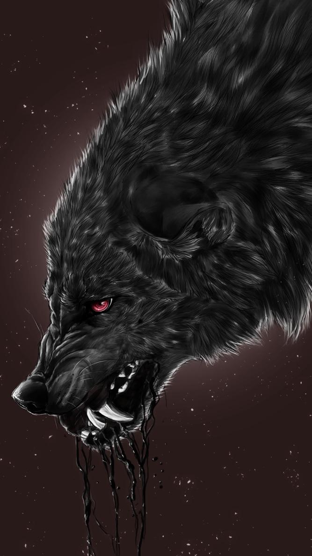 Black Wolf Wallpaper Iphone 667x1186 Wallpaper Teahub Io