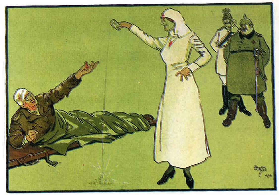 World War 1 German Nurse Teasing English Pow - World War 1 German Nurse - HD Wallpaper