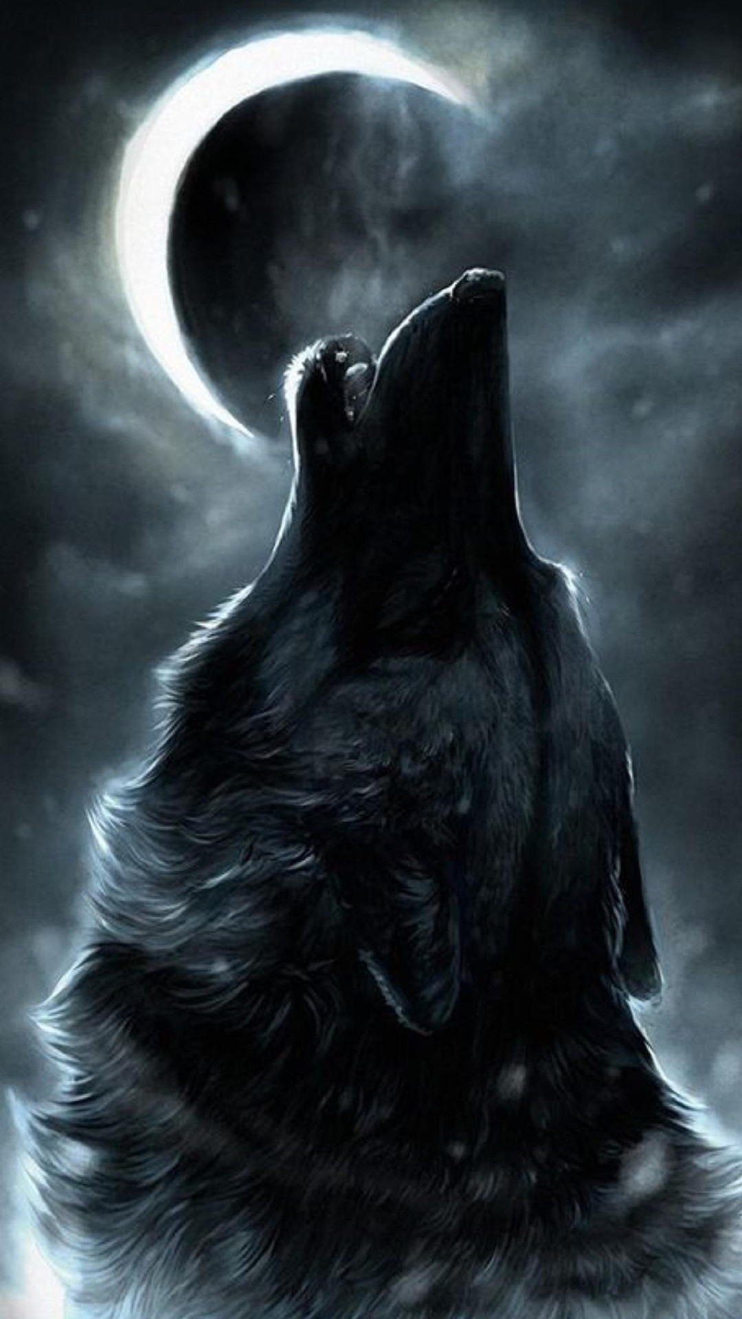 1080x1920 Download Previewhowling Wolf Wallpaper Dark Wolf Howling At The Moon 1080x1920 Wallpaper Teahub Io