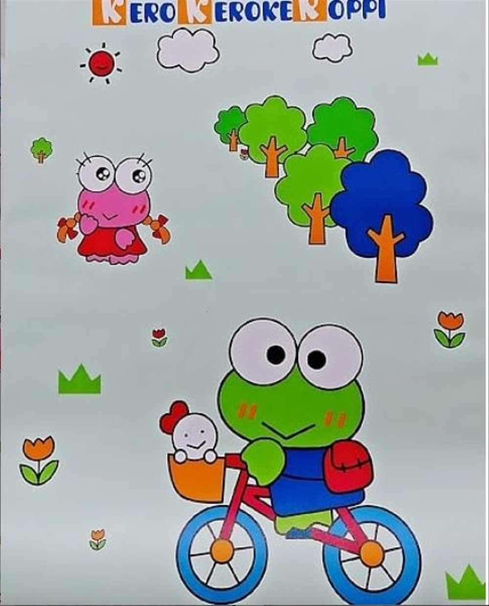 Wallpaper Sticker Keroppi Hijau - Kartun Wallpaper Lucu - HD Wallpaper